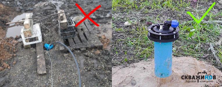 Пример аккуратно и неаккуратно выполненной работы по бурению скважины