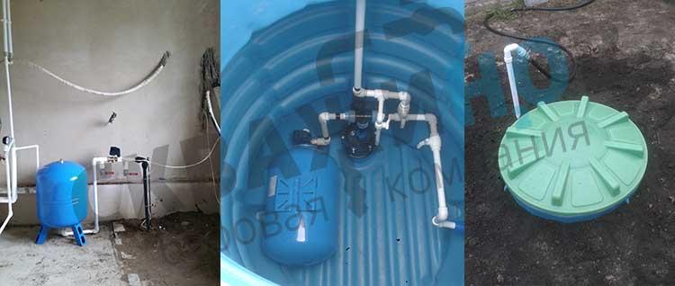 Варианты установки оборудования для скважины в отапливаемом помещении и в полиуретановом кессоне