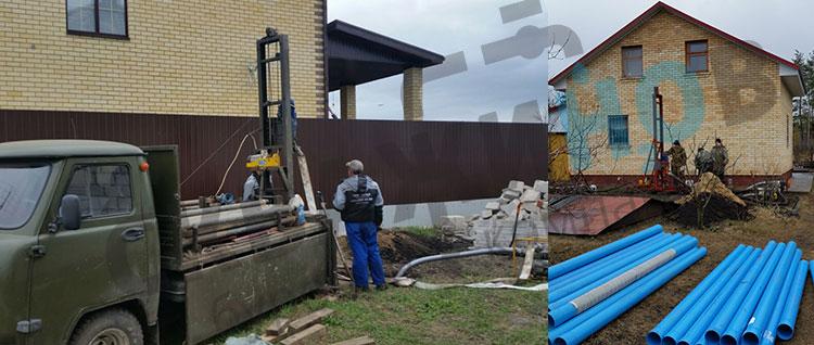 Бурение скважины для частного дома в Воронежской области.